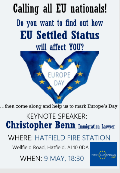 htc.EU Settled Status Scheme Event in Hatfield